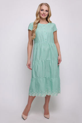 Сукня зелена Аріель 2345