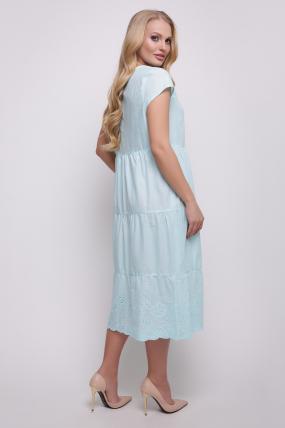 Платье голубое Ариэль 2346
