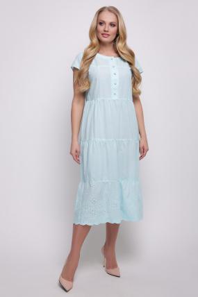 Платье голубое Ариэль 2347