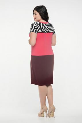 Платье марсал с кораллом Алисия 2349