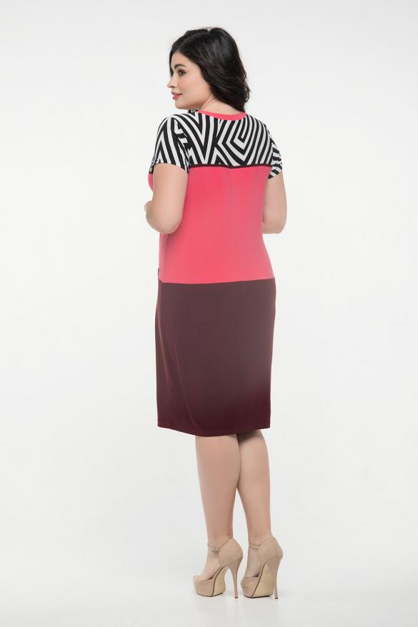 Платье марсал с кораллом Алисия