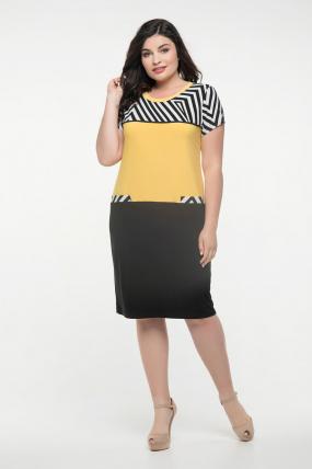 Сукня чорна з жовтим Алісія 2352