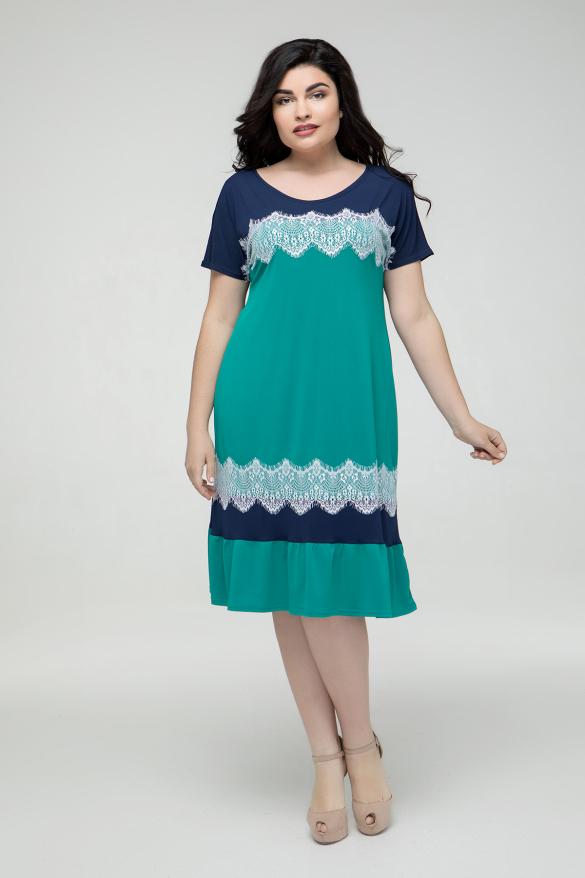 Платье сине-бирюзовое Аида