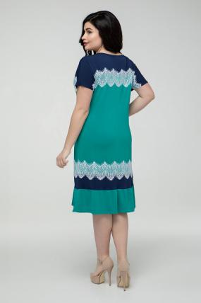 Платье сине-бирюзовое Аида 2394