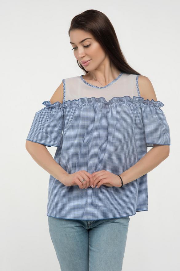 Блуза синяя Ася