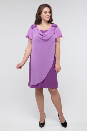 Сукня бузкова Валенсія 2428