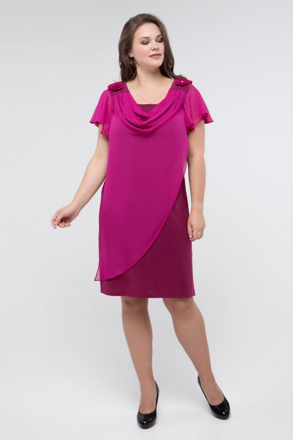 Сукня фуксія Валенсія