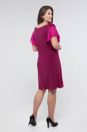Платье фуксия Валенсия 2431