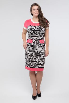 Платье черн-белый коралл Танго 2432