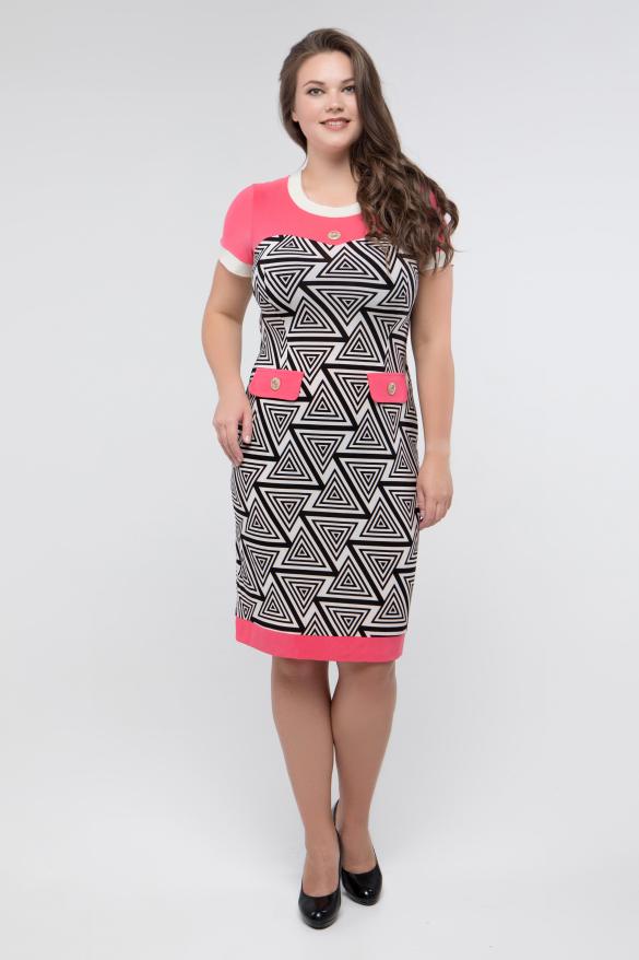 Платье черн-белый коралл Танго