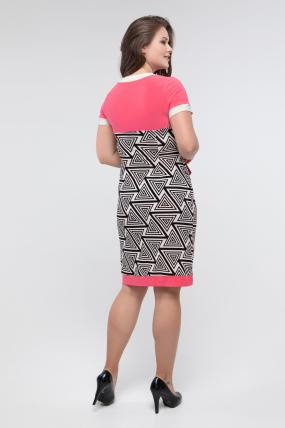 Платье черн-белый коралл Танго 2433