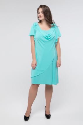 Платье бирюзовое Валенсия 2439