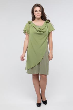 Платье оливка Валенсия 2440