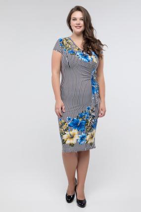 Платье голубое Мальва 2446