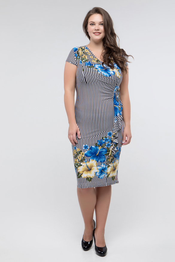 Платье голубое Мальва
