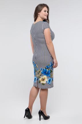 Платье голубое Мальва 2447