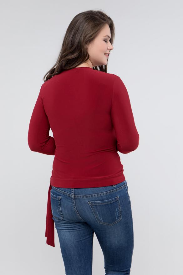 Блуза марсал Клео