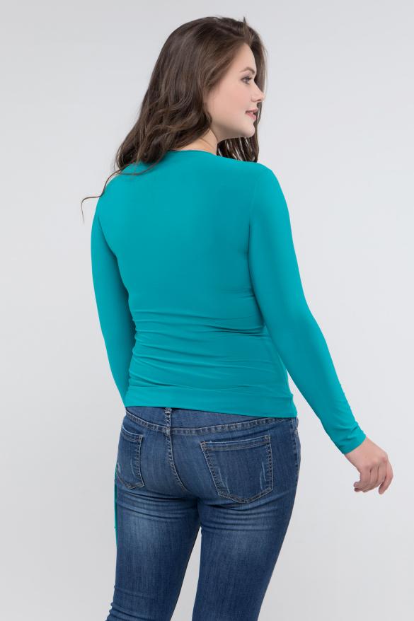 Блуза бирюзовый Клео