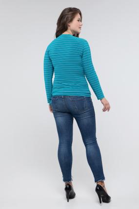 Блуза блакитна (смужка) Клео 2456