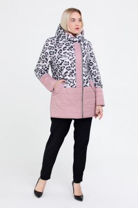 Куртка світлий леопард персик В 777