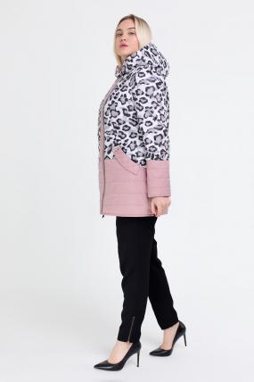 Куртка светлый леопард персик В 777 2510