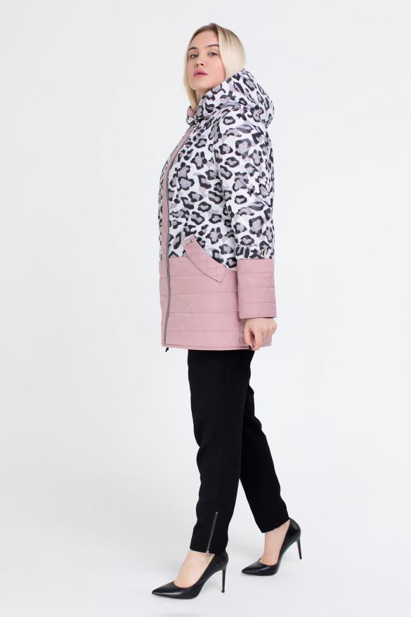 Куртка светлый леопард персик В 777