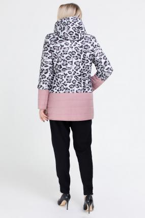 Куртка светлый леопард персик В 777 2511