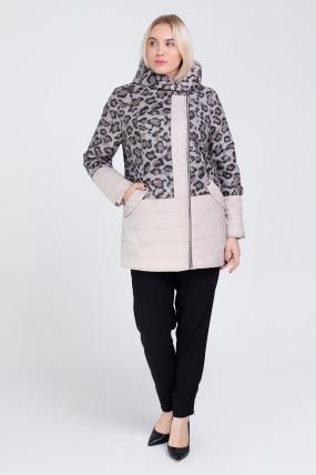 Куртка темный леопард молоко В 777