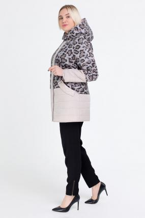 Куртка темный леопард молоко В 777 2513