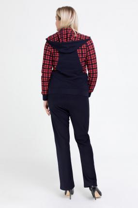 Спортивный костюм Шая синий с красным 2526