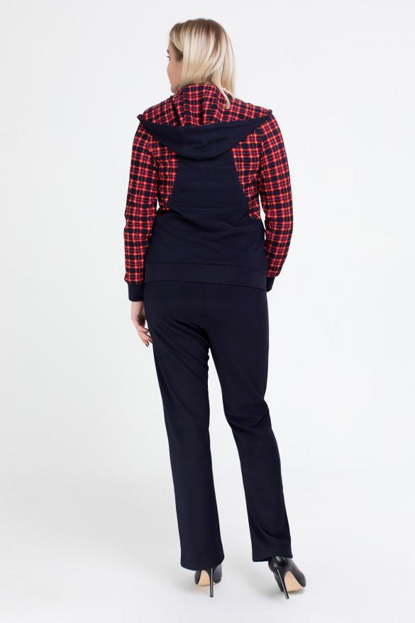 Спортивний костюм Шая синій з червоним