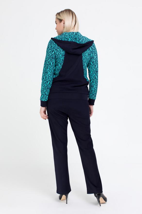 Спортивний костюм Шая синій з бірюзовим