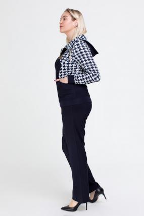 Спортивный костюм Шая синий с белым 2543