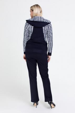 Спортивный костюм Шая синий с белым 2544