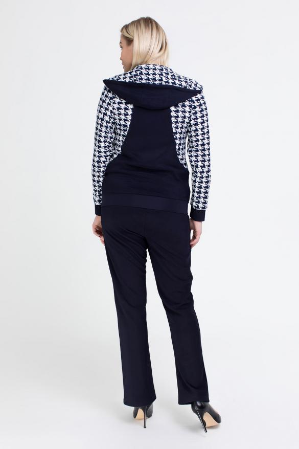 Спортивный костюм Шая синий с белым