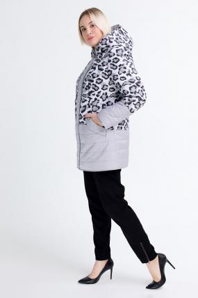 Куртка светлый леопард сиреневая В 777 2567