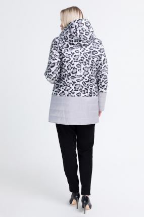 Куртка светлый леопард сиреневая В 777 2568