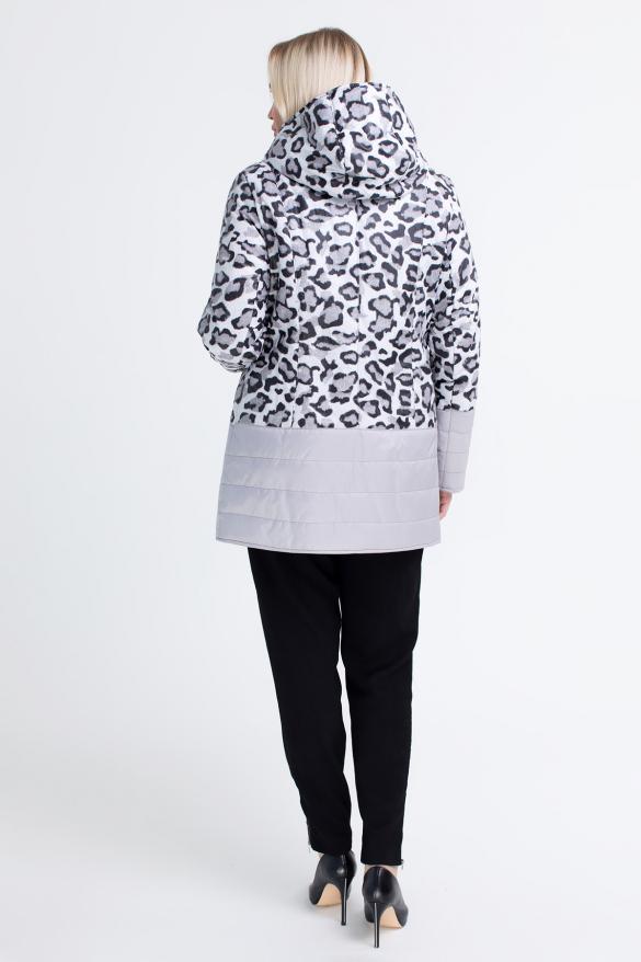 Куртка светлый леопард сиреневая В 777