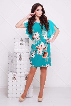 Платье бирюзовое Магнолия 26
