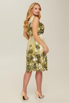 Сарафан оливковый Эмили 2622