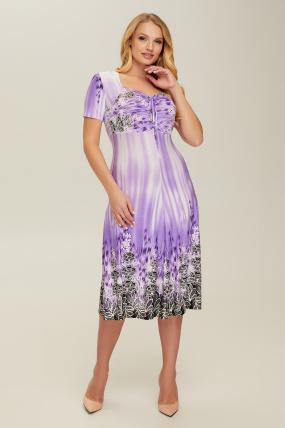 Сукня бузкова Мамба 2642