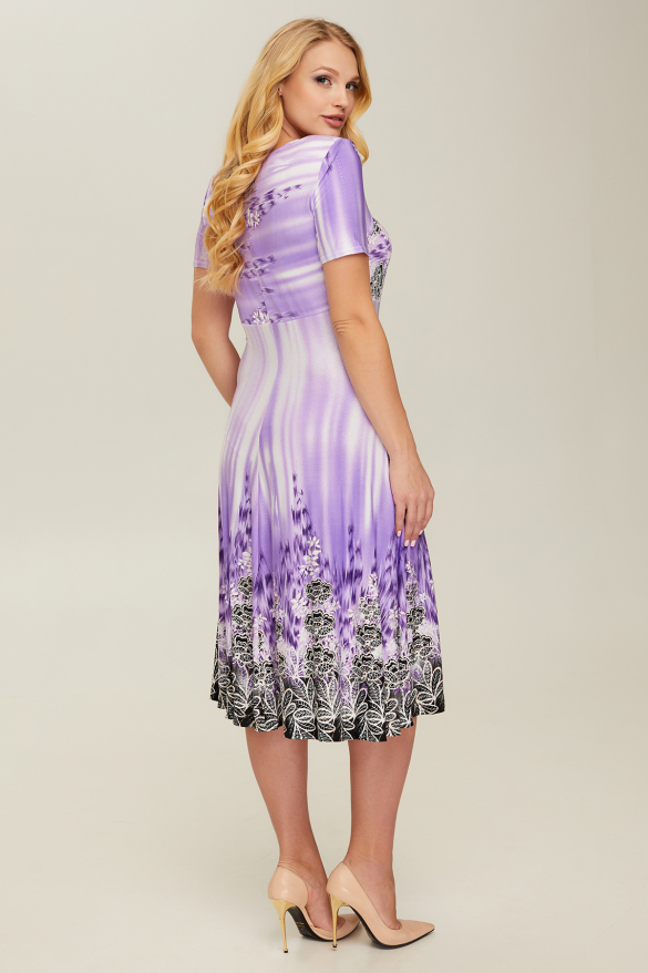 Платье сиреневое Мамба