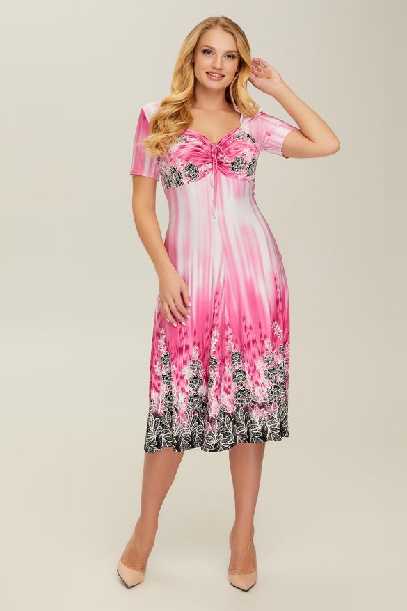 Платье розовое Мамба