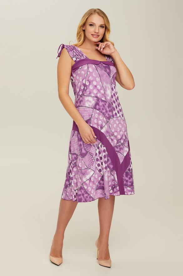 Сарафан фиолетовый Горох