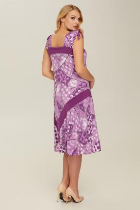 Сарафан фиолетовый Горох 2651