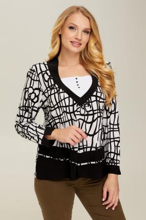 Блуза белый Березка 2654