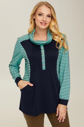 Блуза синяя Элиза 2656