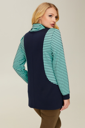 Блуза синяя Элиза 2657