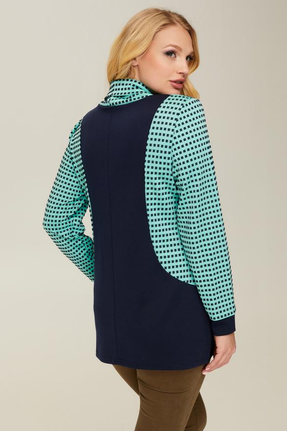 Блуза синяя Элиза