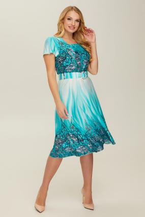 Платье бирюзовое Леся 2660
